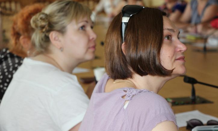 На первом плане — Ксения Горяева. Фото Марии Атрощенко